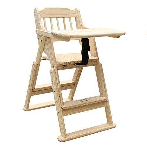 LJHA Tabouret pliable Chaises de salle à manger en bois solides d'enfants/table à manger pliable d'enfants/chaise multifonctionnelle portative de bébé chaise patchwork (Couleur : B)