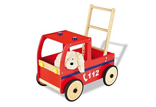 Pinolino 262677 - Lauflernwagen Feuerwehrauto Klaus (Fensterleder Weichen Trockenen,)