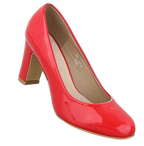 Damen Pumps Schuhe Elegant High Heels Bequeme Rot 41 zUT4nZ0