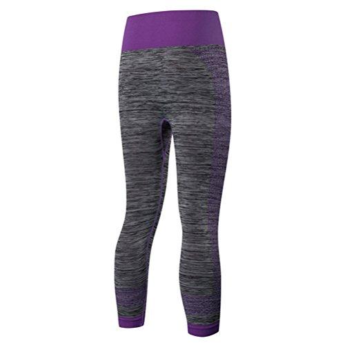 Zhhlaixing Unique Design Womens Elasticity Tight Comfy Sports Pant Leggings 508 purple