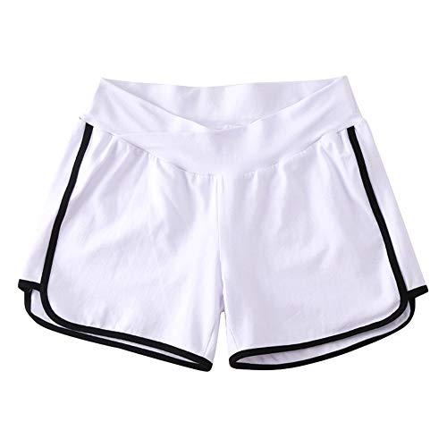 Spandex-rennen (Goyajun Frauen Mutterschaft Pflege Bauch Yoga Hosen - Schwangere Sport Baumwolle Cool Breathable Elastizität Tasche Lose beiläufige Haupt Heiße Shorts)