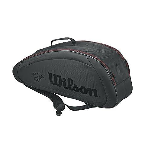 Wilson Fed Team 6Pack Bag Tennistasche, Unisex Erwachsene, schwarz/rot (Black/Red), Einheitsgröße