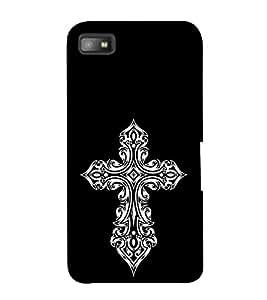 FUSON Gothic Cross Sign 3D Hard Polycarbonate Designer Back Case Cover for BlackBerry Z10