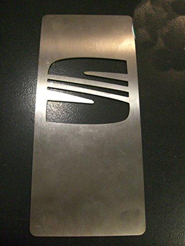 Tuning Trittbrett Fußschemel Fußstütze Edelstahl 18 x 8 cm mit Kit Klettverschluss