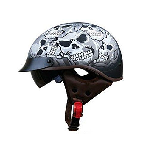 Preisvergleich Produktbild LI DANNA Motorradhelm Mit Eingebautem Spiegel Abnehmbare DOT-Zertifizierung, B-XL61CM-62CM