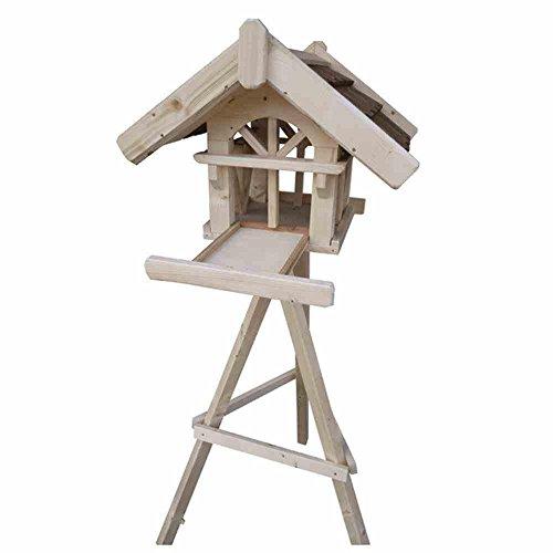 Vogelhaus Nr. 1 mit Ständer, Maße: 50x54x41cm inklusive ausziehbarer Futterlade