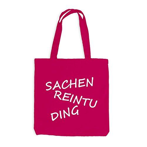 Jutebeutel - Sachen ReinTu Ding - Funmotiv Pink