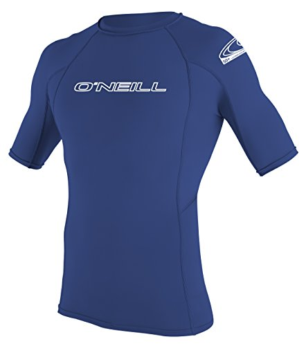 ONEILL WETSUITS O'Neill Wetsuits Herren UV Schutz Basic Skins S/S Crew, Pacific, L, 3341-018
