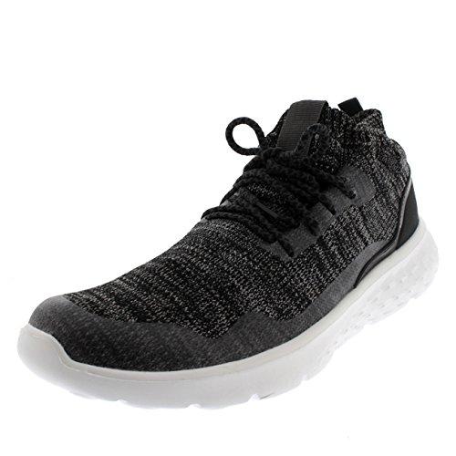 Get Fit Damen Fitness Laufen Gehen Socke Fit Schnüren Leicht Fitnessstudio Gepolstert Ausbilder Grau/Weiß