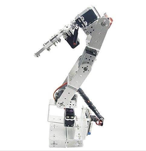 Silber rot3u 6DOF Sensor Aluminium Roboter Arm Mechanische Robotic Klemme Krallen für Arduino