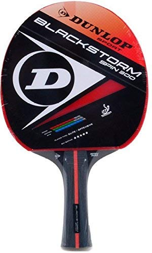 Dunlop Black Storm Spin Table Tennis Racket For Intermediate Players