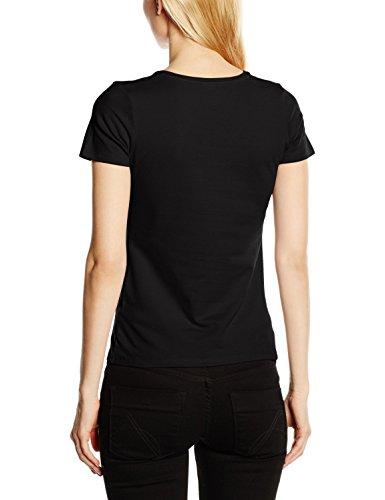 Fruit of the Loom Ss082m, T-Shirt Femme Noir