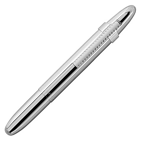 Shiny Chrome Space Pen with Matching Clip