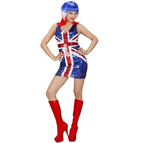 Themen Party Kostüm England - Widmann - Erwachsenenkleid Miss UK