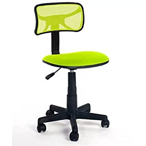 DIAS Gr¨¹n B¨¹rostuhl Computer-Armless Stuhl mit Stoff Pads Gem¨¹tlich Sitz