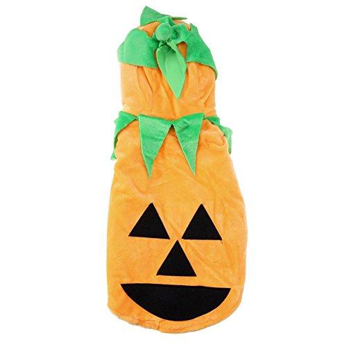 Demiawaking bello vestito da cane costume di zucca di halloween