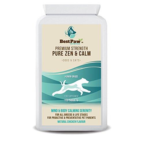 Best Paw Nutrition - Pastillas calmantes para Perros 120 Pastillas relajantes de...