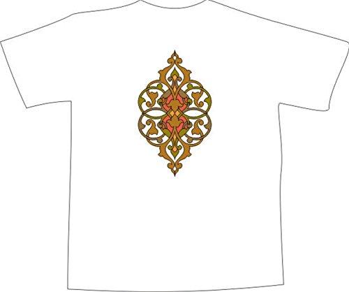 T-Shirt F1104 Schönes T-Shirt mit farbigem Brustaufdruck - schöne Tribal Schwarz