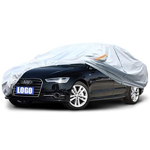 (per Audi) Copriauto da esterno argento Tessuto in stoffa Oxford universale quattro stagioni (sole/neve/polvere/graffi) personalizzabile (Color : S1)