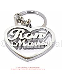 Personalized Gift Personalized Keychain In Heart Shape With Your Own Name Loved Name With Upto 6 Letters In Chrome...