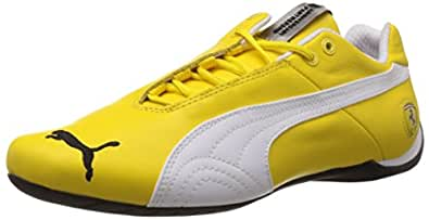 Puma Men's Future Cat Leather SF -10- Vibrant Yellow-White Leather Sneakers - 9 UK/India (43 EU)