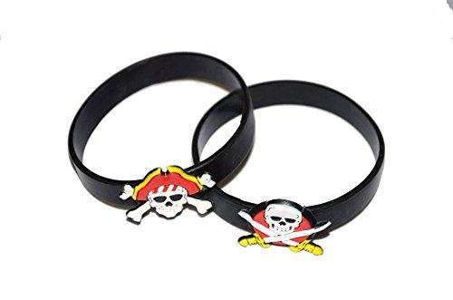 �r kleine Seeräuber, als Mitgebsel zur Piratenparty, Gummi-Armband (Piraten Armbänder)