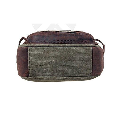 YAAGLE Freizeit Herren Taschen Retrotasche Canvas Segeltuch Schultertasche Umhängetasche Gepäck Reisetasche-kaffee armee-grün