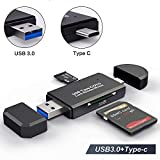 YoSuDa Speicherkartenleser Micro SD Card Reader,USB 3.0 Type C OTG Adapter für Samsung S9/S9 Plus/S8/S8 Plus, MacBook Pro, MacBook 2017/2016, iMac 2017,Nicht kompatibel mit iPhone oder iPad (USB 3.0)