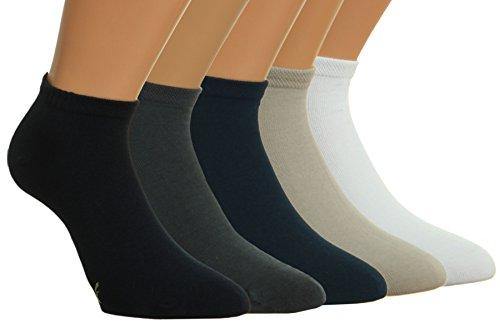 Vitasox 43021 Damen Herren Sneaker Socken Bambus Sneakersocken 6er Pack silber 43/46