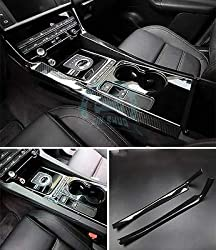 FidgetGear 2 Stück Carbonfaser Textur Stick Shift Beidseitige Innenverkleidung für Jaguar f-pace
