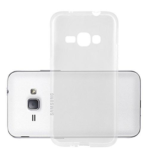Cadorabo Hülle für Samsung Galaxy J1 2016 (6) - Hülle in VOLL TRANSPARENT – Handyhülle aus TPU Silikon im Ultra Slim 'AIR' Design - Silikonhülle Schutzhülle Soft Back Cover Case Bumper