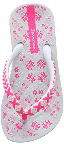 Ipanema Mädchen Anat Lovely II Kids Zehentrenner, Mehrfarbig White 9123, 31 EU