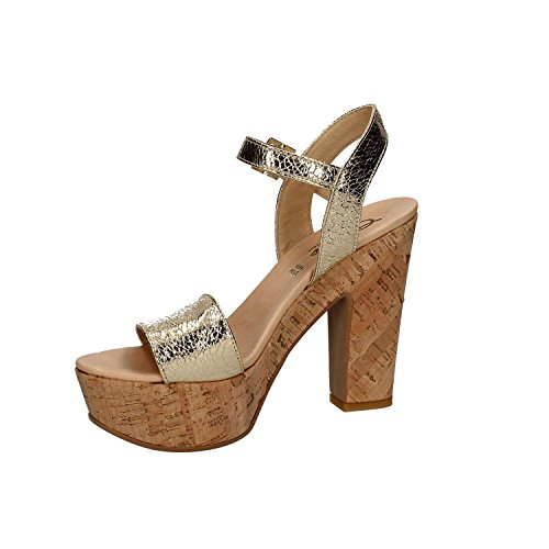 GRACE SHOES 05 T Sandalo tacco Donna Platino