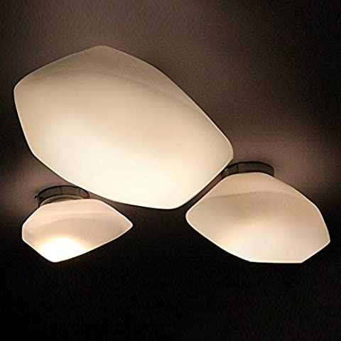 W Brillight Ceiling Lamp, Metal and Glass Pendant Light Industrial