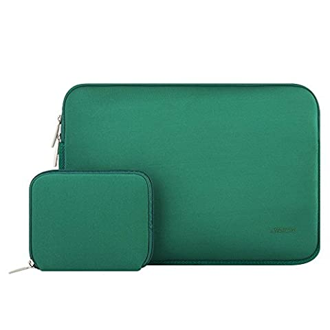 MOSISO Water Repellent Lycra Sleeve Bag Cover for 15-15.6 Inch MacBook Pro, Notebook Computer with Small Case, Peacock