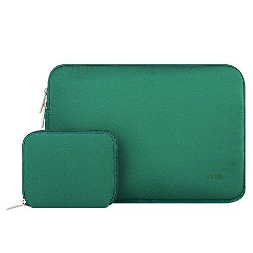 MOSISO Wasserresistente Lycra Hülle Sleeve Tasche für 13-13,3 Zoll MacBook Pro, MacBook Air, Notebook Computer Laptophülle Schutzhülle Laptoptasche Notebooktasche mit Kleinen Fall, Pfau Grün