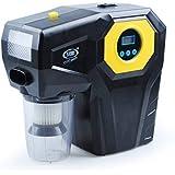 Aspirateur de Voiture, 4-in-1 Pompe Gonflable de Pression de Pneu Aspirateurs Lampe, pour Voiture plastic black, by LC Prime