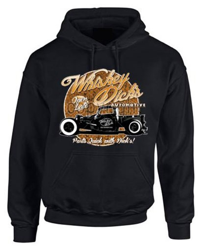 Wolkenbruch® Hoodie Hot Rod Whiskey Dicks Old Style, Gr.XL (Whiskey Sweatshirt)