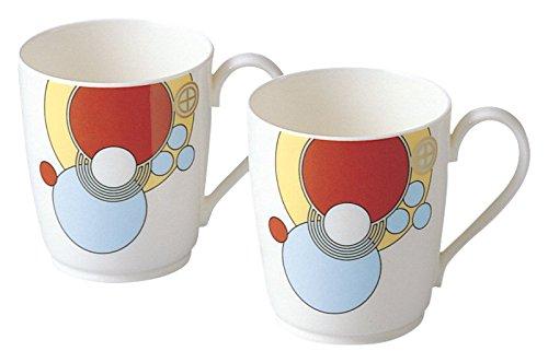 Noritake bone china Frank Lloyd Wright design tableware mugs pair set P97280/4614 (japan import) Noritake China