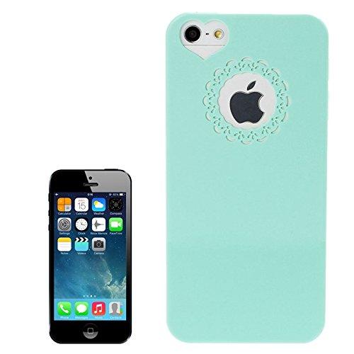 wkae Schutzhülle Case & Cover Gravur Blume Kunststoff Schutzhülle für iPhone 5& 5S & SE grün