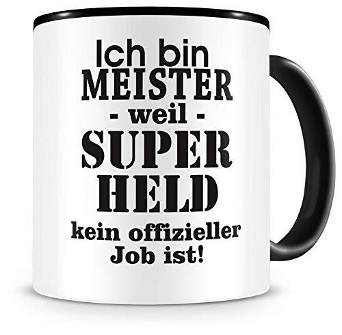Samunshi® Ich bin Meister Tasse Beruf Geschenk Kaffeetasse Teetasse Kaffeepott Kaffeebecher Becher 300ml Meister