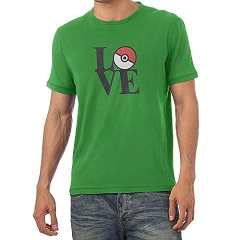 TEXLAB - Poke Love - Herren T-Shirt, Größe L, grün