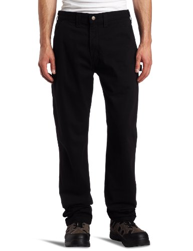 Carhartt Herren Relaxed Fit Washed Twill Dungaree Pant Gr. Small, Schwarz (Band Lockere Passform)
