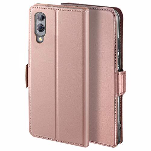 HoneyCase für Handyhülle Xiaomi Black Shark 2 Hülle Premium Leder Flip Schutzhülle für Xiaomi Black Shark 2 Tasche, Rose Gold