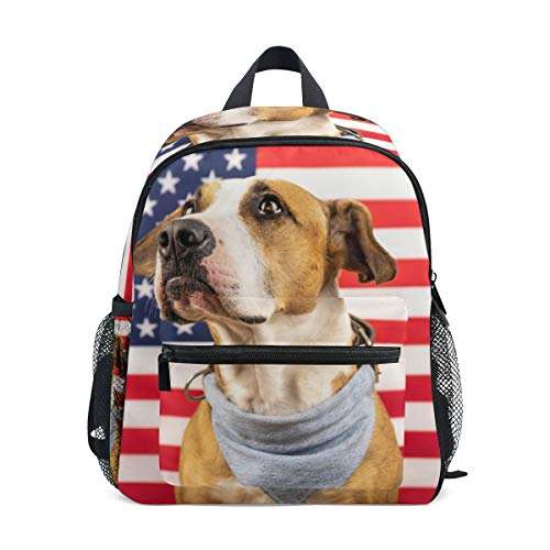 CPYang Kinder-Rucksack mit amerikanischer Flagge und Tier-Motiv, für Jungen und Mädchen (Multicolor Amerikanische Flagge)