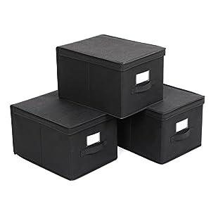 aufbewahrungsbox mit deckel schwarz g nstig online kaufen dein m belhaus. Black Bedroom Furniture Sets. Home Design Ideas