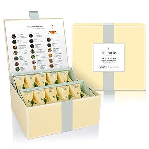 Tea forté Tee-Chest - Geschenkbox mit 40 Tee-Pyramiden, 1er Pack (1 x 118 g)