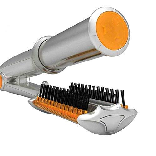 Haar Lockenstab GläTten Pinsel 2-In-1 Rotierende HeißLuft-ModellierbüRste Langes Kurzes Haar PTC Heizung Automatischer Lockenstab-HaargläTter Curling Iron Glätteisen Trockenen Nassen Haarbürste (Glätten Haar Pinsel)