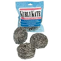 PUR756 Kurly Kate Stainless Steel Scrubbers, Large, 12 per Pack by PUR756 preisvergleich bei billige-tabletten.eu