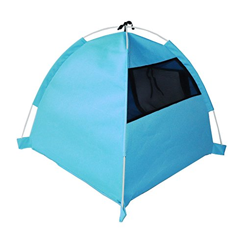 AYCC Hundehütte-Zelt-Katzen-Haus-Zelt-tragbares Faltendes Innenaußensonnenschutz-Zelt,Blue